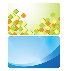 Green and blue cards with abstractions - set vector