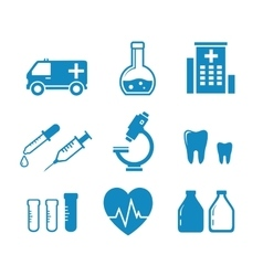Medical industry objects vector