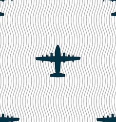 Aircraft icon sign seamless pattern with geometric vector