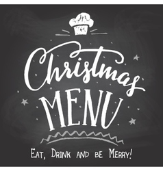 Christmas menu on chalkboard background vector