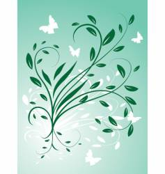 Circling the leaves and butterflies vector
