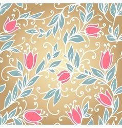 Vintage floral seamless vector image