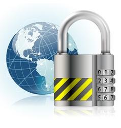 Padlock Safety vector image