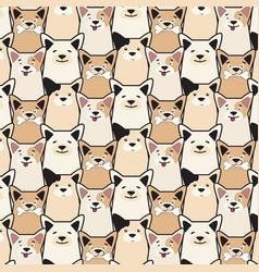 animal seamless dog pattern pug cartoon vector image vector image