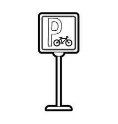 Bike parking street sign vector