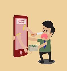 Cartoon of internet criminal vector