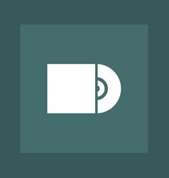 cd icon simple vector image