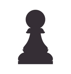chess piece game pawn vector image