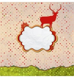 Christmas Invitation card template design EPS 8 vector image vector image