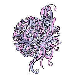 Colorful hand drawn zentangle pattern vector