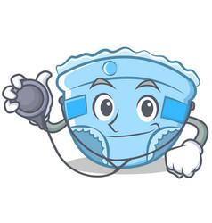 Doctor baby diaper character cartoon vector