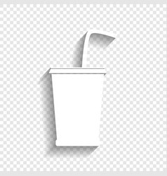 Drink sign white icon with vector