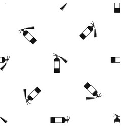 Fire extinguisher pattern seamless black vector