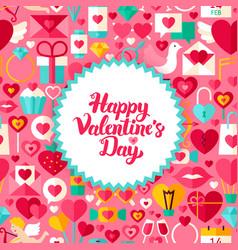 Flat valentine day postcard vector