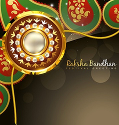 Golden rakhi for rakshabandhan vector