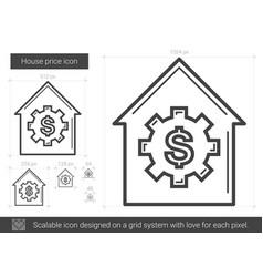 House price line icon vector