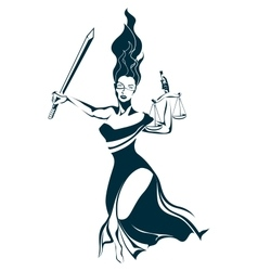 Lady Justice vector image