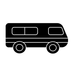 microbus - minibus icon vector image