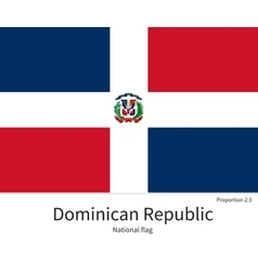 National flag of dominican republic with correct vector