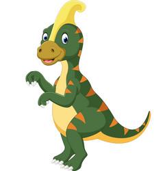 parasaurolophus cartoon vector image