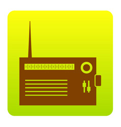 radio sign brown icon at vector image