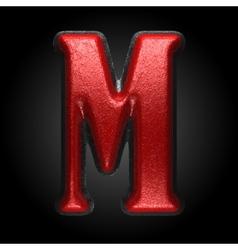 Red plastic figure m vector