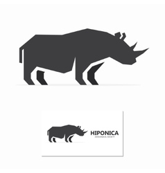 Rhino label or logo designs vector