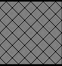 seamless black and white square grid pattern - vector image vector image