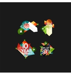 Set of labels stickers banners badges and vector image vector image