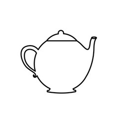 silhouette teapot drink icon flat vector image vector image