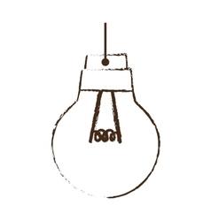 sketch draw bulb light idea creativity vector image