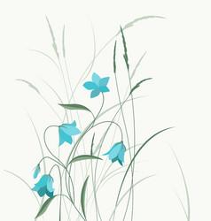 Summer flower campanula vector