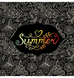 Summer watercolor lettering Hand drawn watercolor vector image