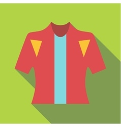 T-shirt for cyclists icon flat style vector