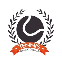 tennis championship ball label design vector image