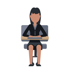 Woman sitting on a chair vector