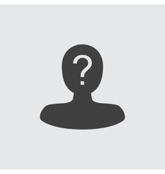 User question icon vector image