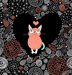 cat lover vector image