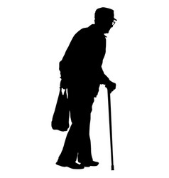 silhouette of disabled people on a white vector image