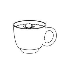Hot chocolate beverage vector