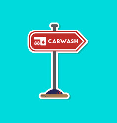 Paper sticker on stylish background car wash sign vector