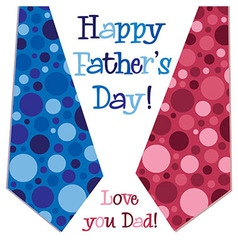 Bright bubble tie happy fathers day neck tie card vector