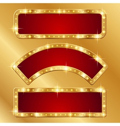 Flash banner gold vector