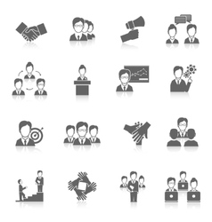 Teamwork icons black vector
