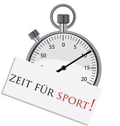 Stopwatch with german text vector