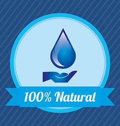 Natural water vector