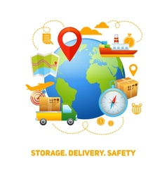 Logistic global concept design vector