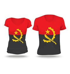 Flag shirt design of angola vector
