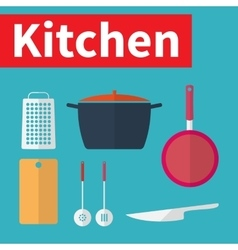 Kitchen utensils flat design vector