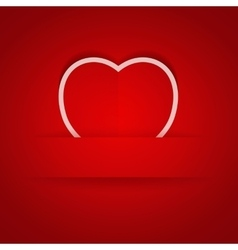 Valentines day background with pocket vector